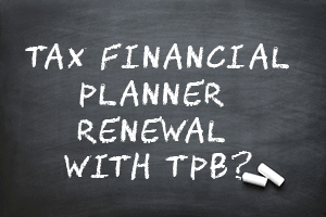 2018 tax financial planner renewal