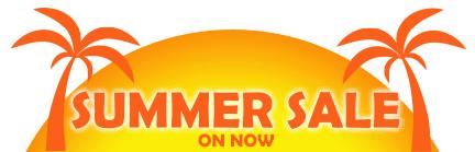 summer sale banner sun