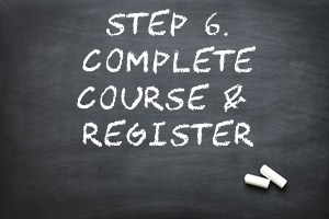step 6 complete course and register